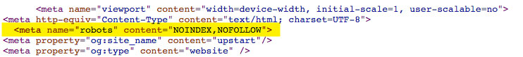 No-follow in your URLs